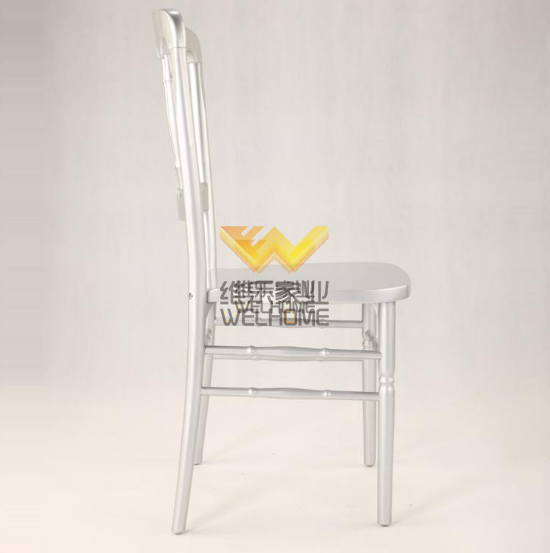 Hotsale Silver solid wood chateau chair for events/wedding