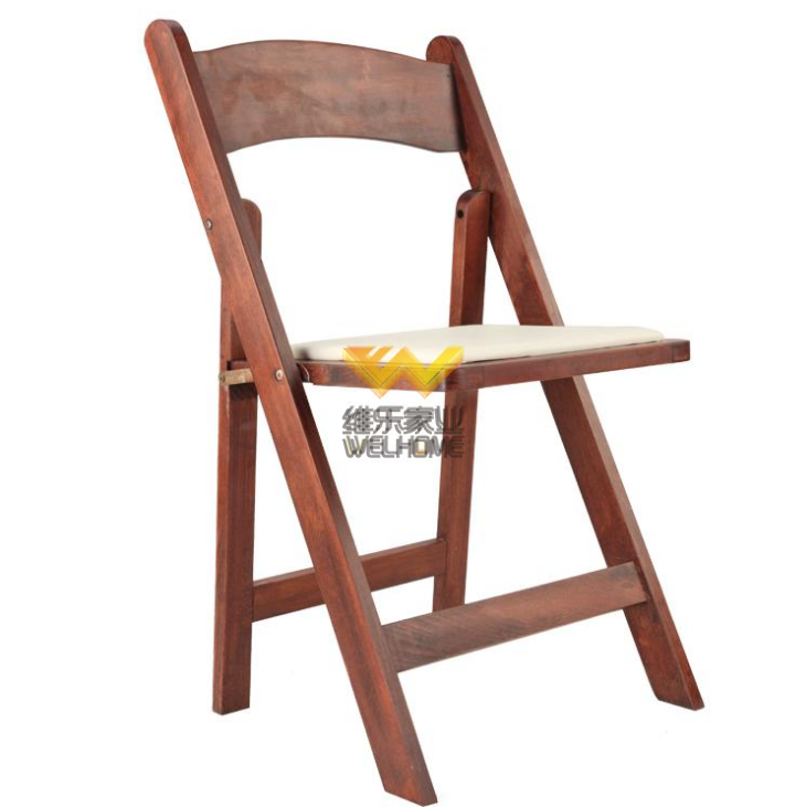 Top quality wedding and event use beech wood folding chair discount promotion