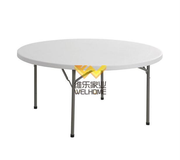 cheap outdoor plastic foldable banquet round table used folding tables for sale
