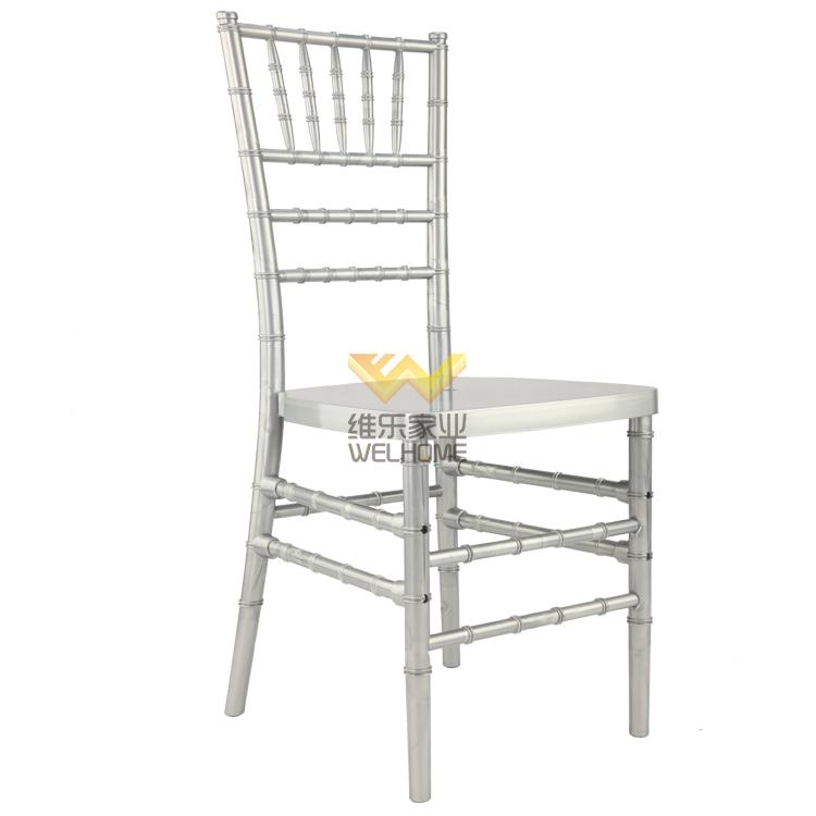 Silver PP tiffany chair for wedding/events