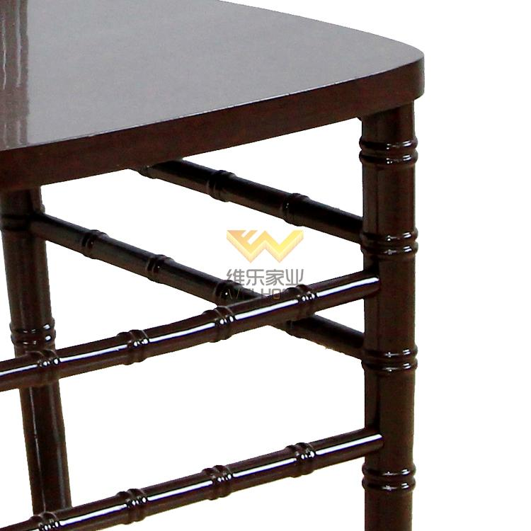 solid wood mahogany color chiavari chair