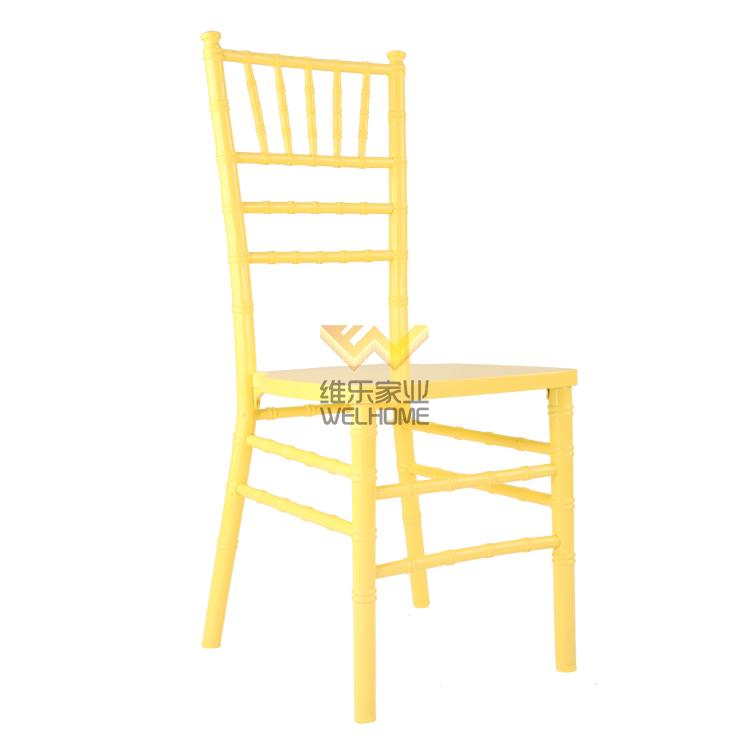 Yellow solid wood chiavari chair for wedding/event