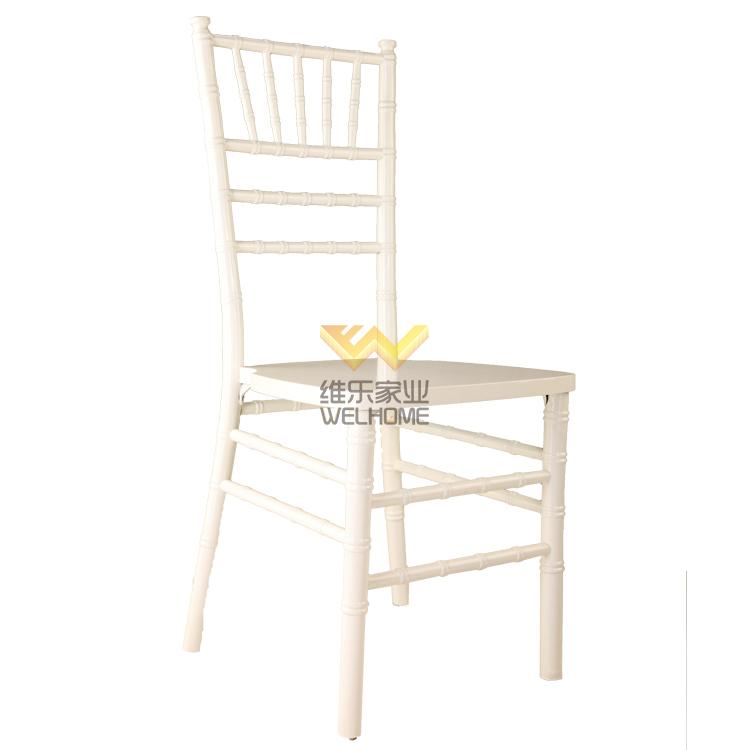 white color wooden chiavari chair for rental