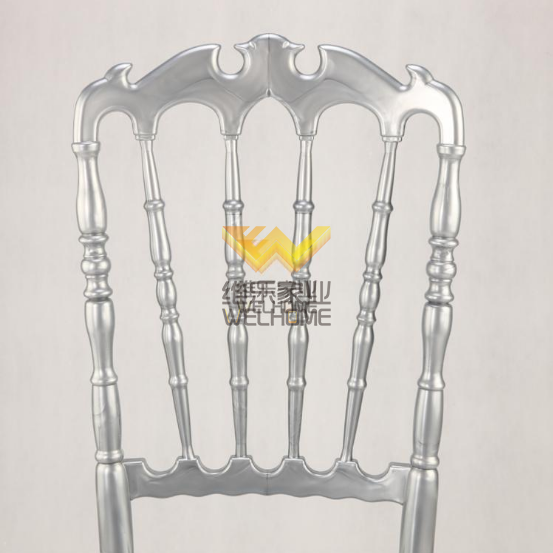 Silver Highback Resin Napoleon Chair for Wedding/Event