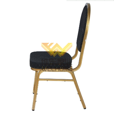 High quality Metal banquet chair with fabric seat for rental