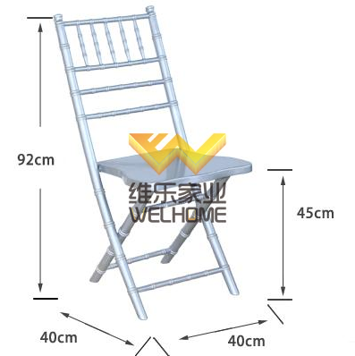 Silver wooden chiavari folding chair wholesale for wedding/event
