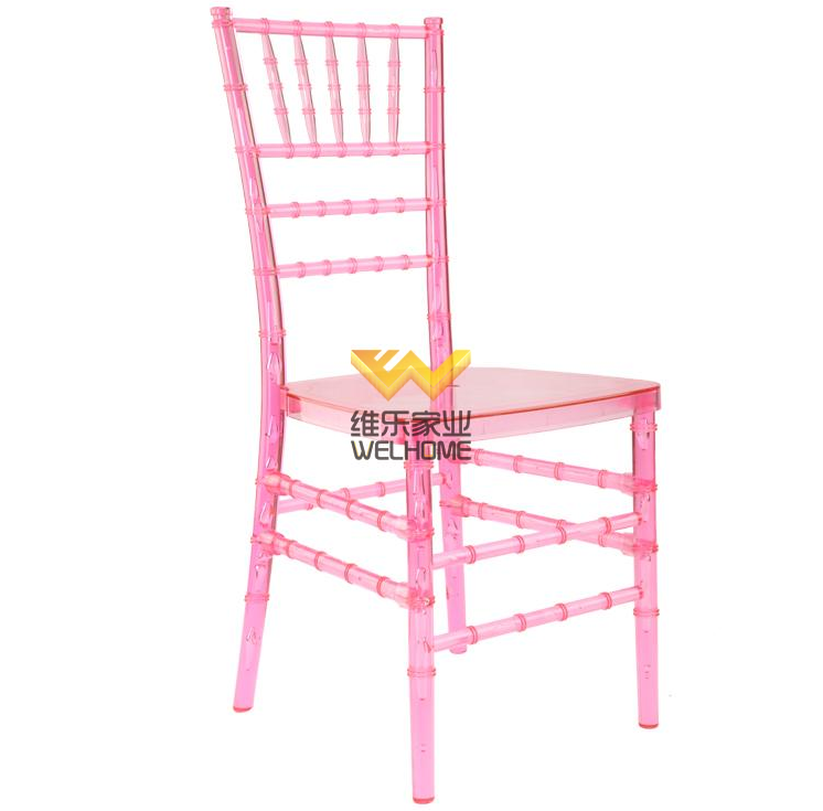 Pink arcylic Chiavari Chair for wedding/events