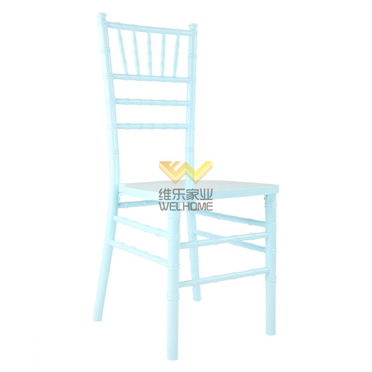 Light blue solid wood chiavari chair for wedding/event