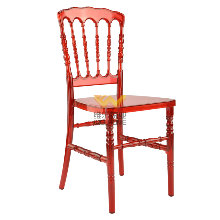 Red Plastic Napoleon accent Chair for event