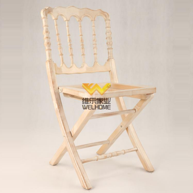 Wooden folding napoleon chair for wedding/event