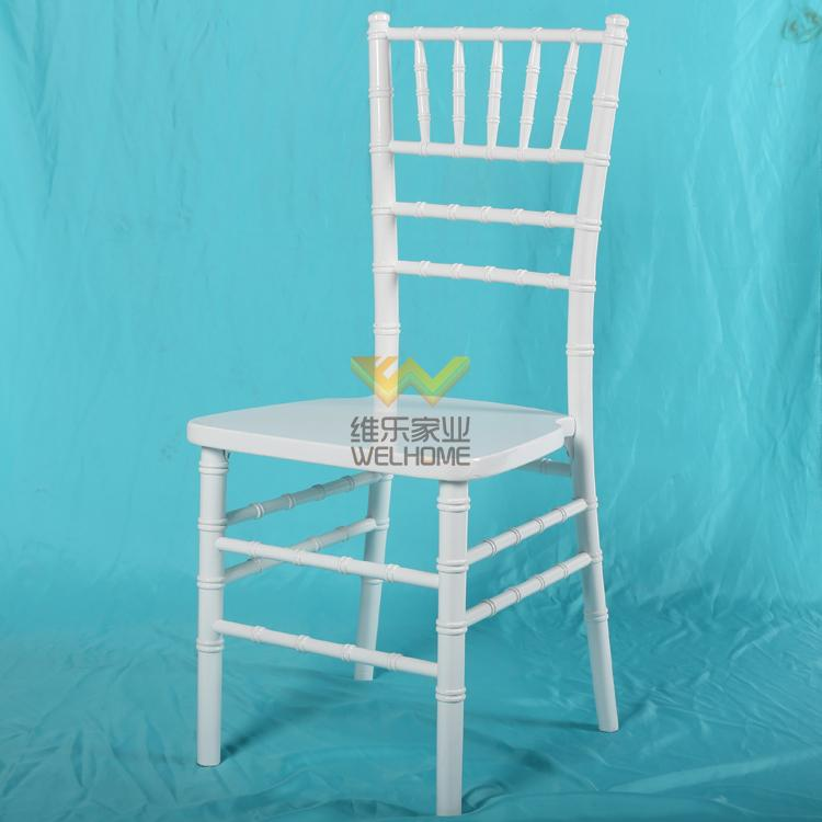 Top quality beech wooden white color chiavari chair for rental