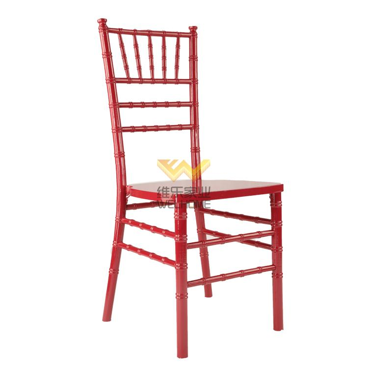 wooden cheap chiavari chair in Red colour for rental