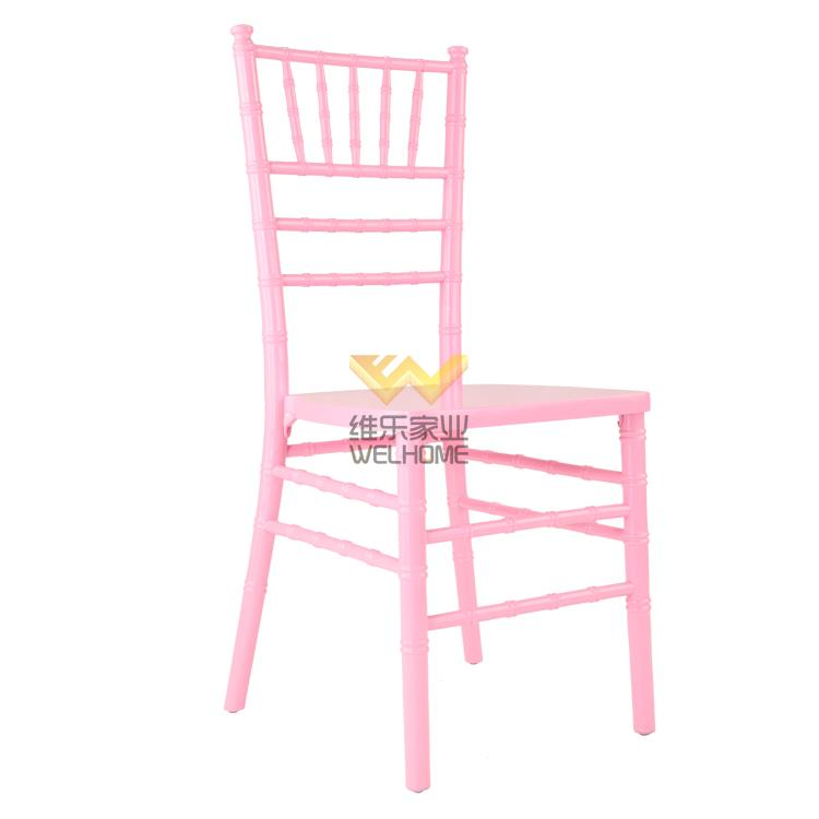 Pink wooden tiffany chair for wedding/event