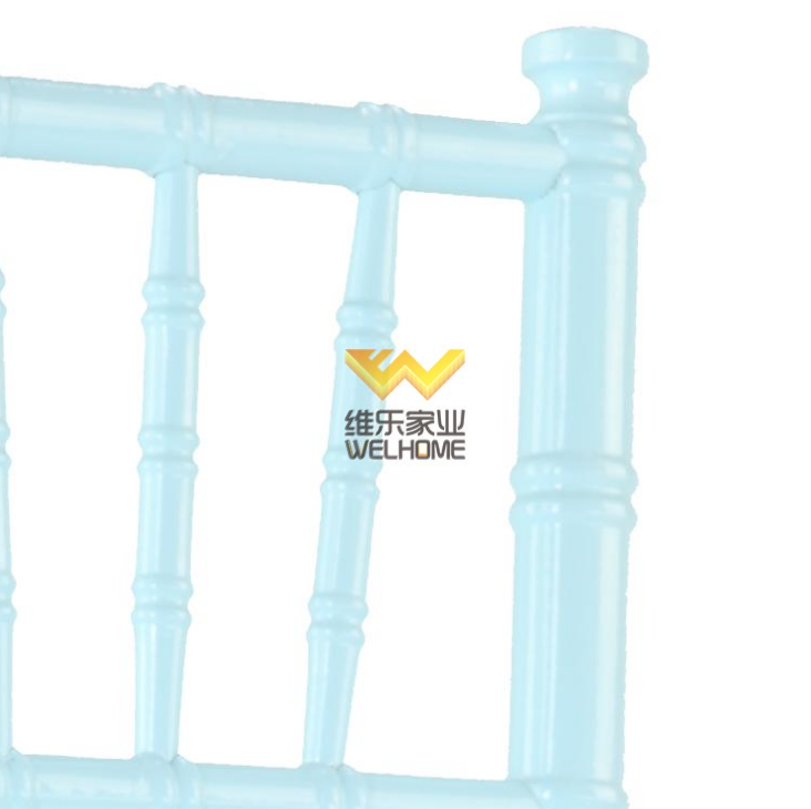 Light blue solid wood chiavari dining chair for wedding/event