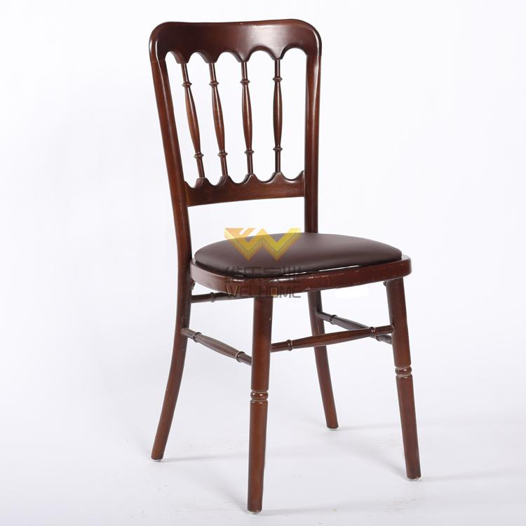 wedding and event rental solid beech wood chateau chair