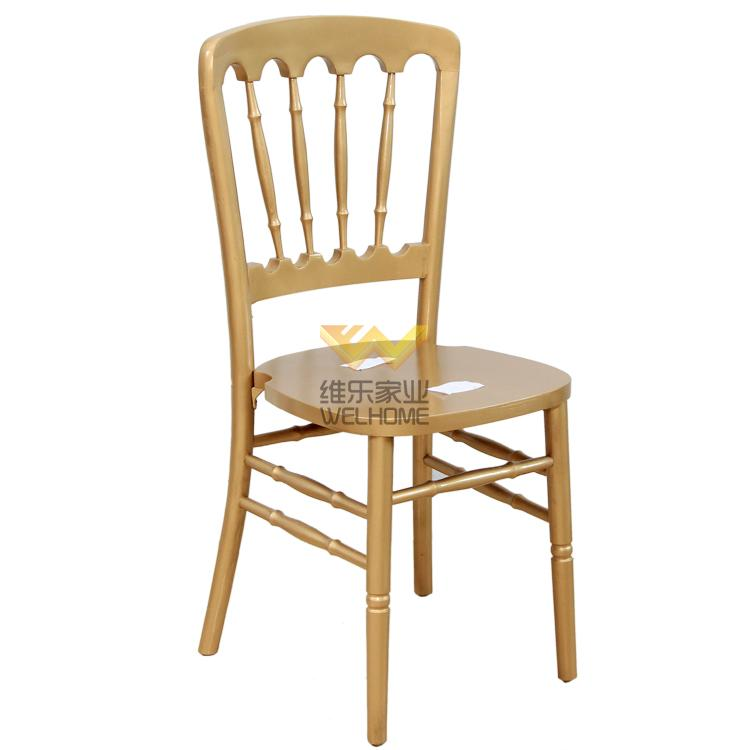 Golden wood Chateau chair with seat pad for wedding/event