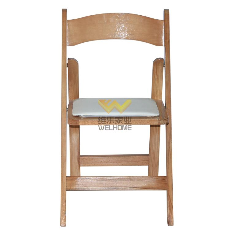 high quality solid beech wood folding chair for wedding