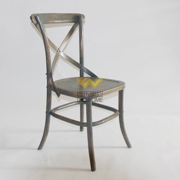 wedding and event rental vintage cross back dining chair