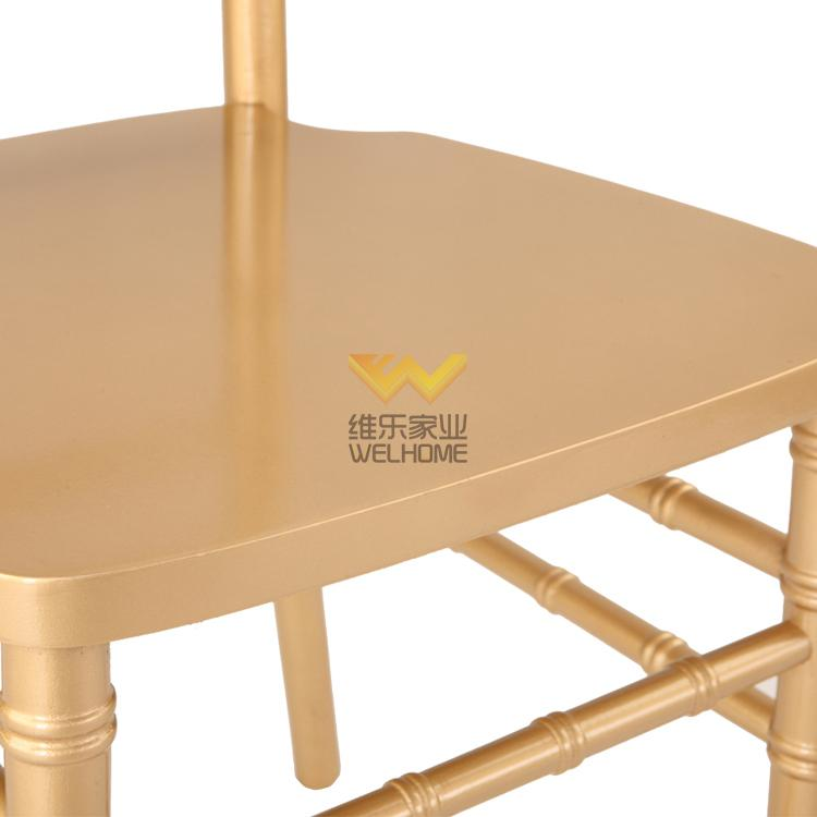 factory of gold color solid wood chiavari chair for rental