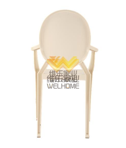 White resin ghost chair for event/wedding