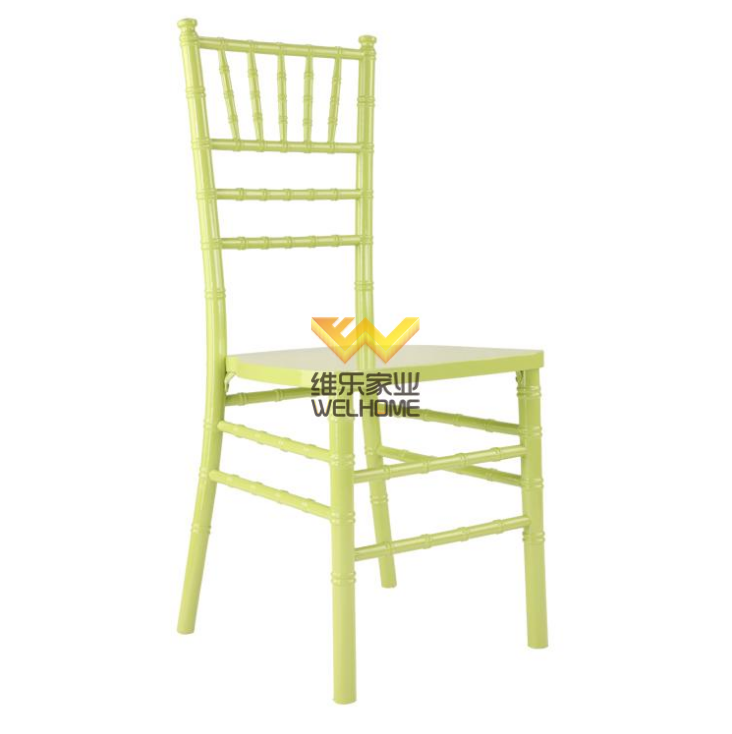 Green wooden chiavari chair for wedding/event
