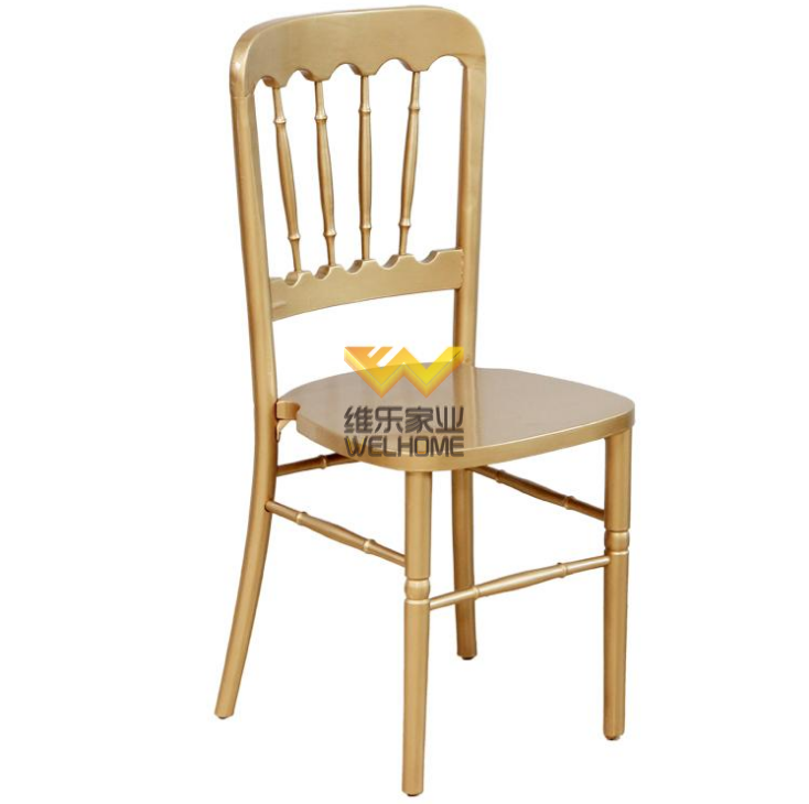 Gold wooden chateau chair for wedding/event
