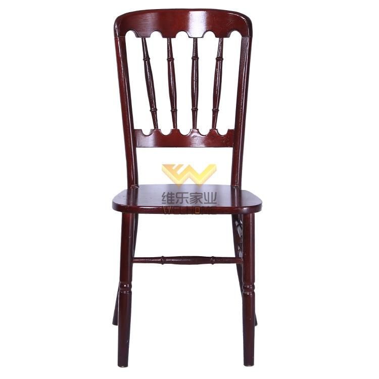 Mahogany solid wood chateau chair for wedding/events