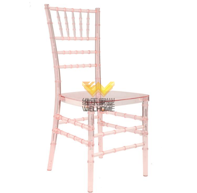 Hotsale Pink Plastic Chiavari Chair for wedding/events