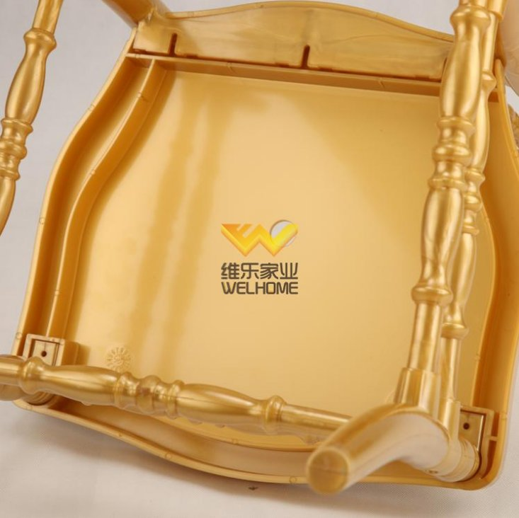 hotsale Gold Highback Resin Napoleon Chair for wedding/event