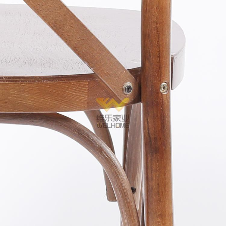 Wood x back bistro cross back restaurant dining chairs
