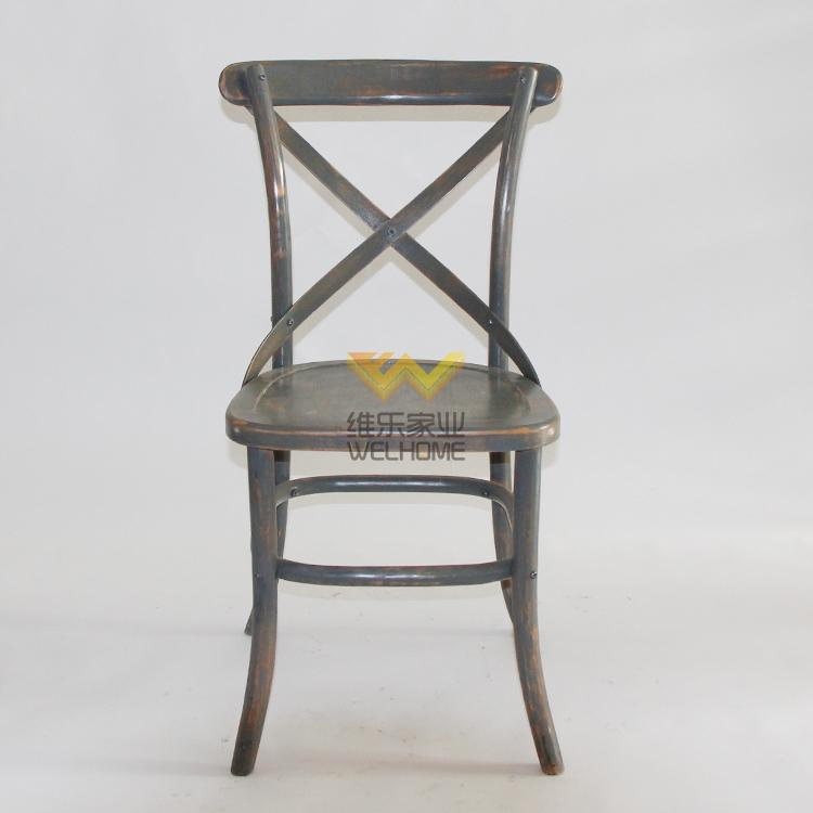 Top quality oak wood x back dining chair made in China