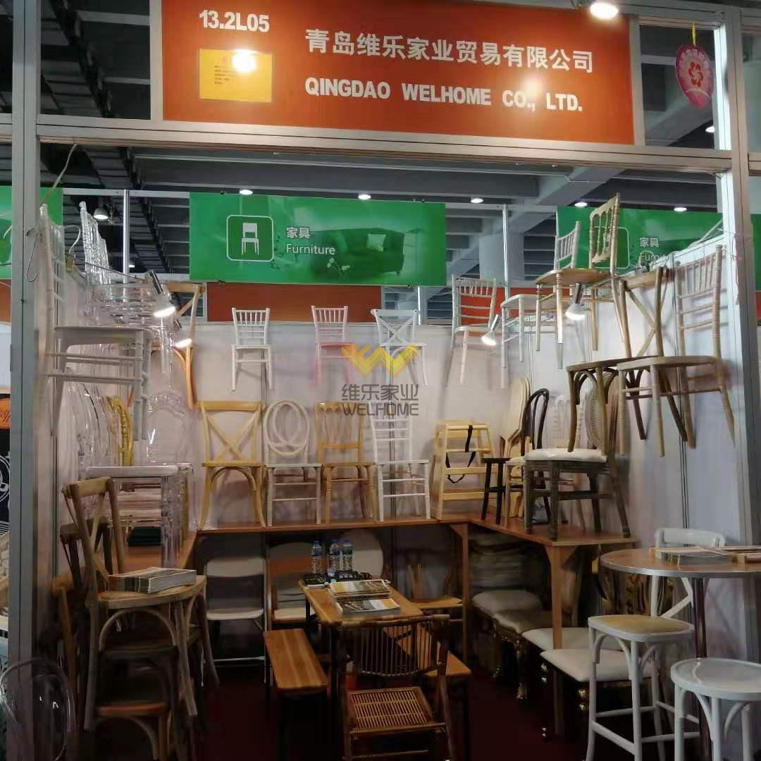 Canton Fair and Shanghai Furniture Fair every year