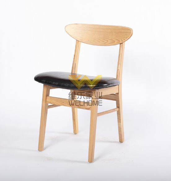 Solid wood cafe chair