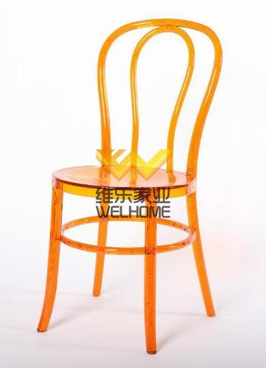 Orange acrylic vienna thonet chair for wedding/event