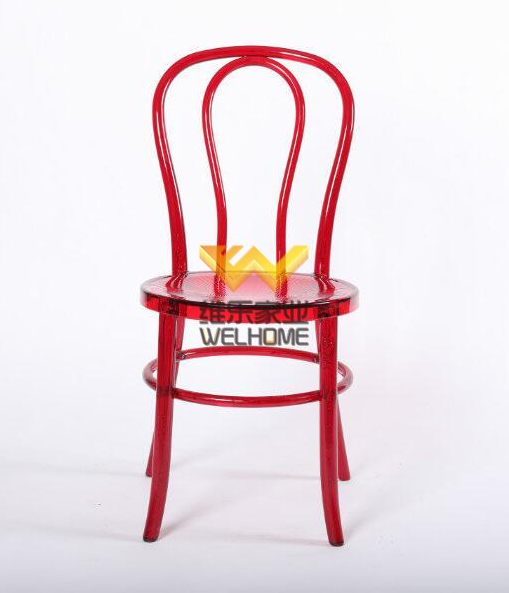 Red Acrylic Thonet chair for wedding/event