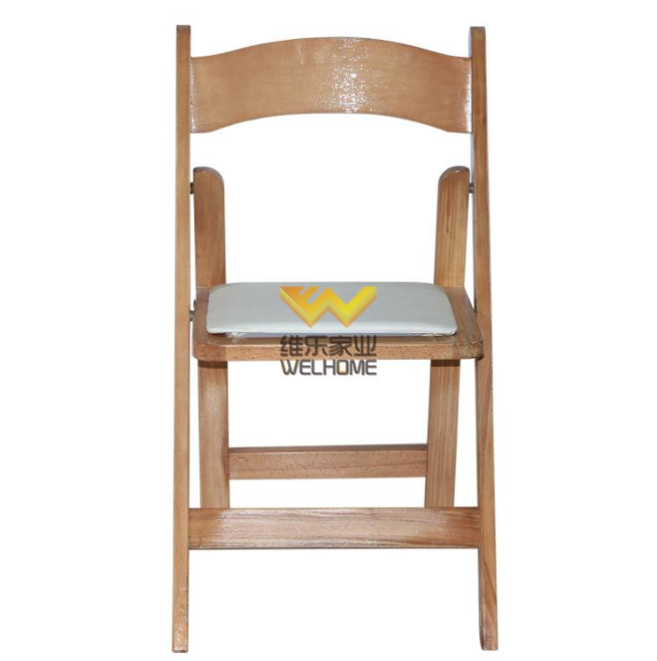High quality solid beech wood folding chair for rental