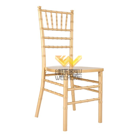 High quality gold color solid wood chiavari chair for wedding rental