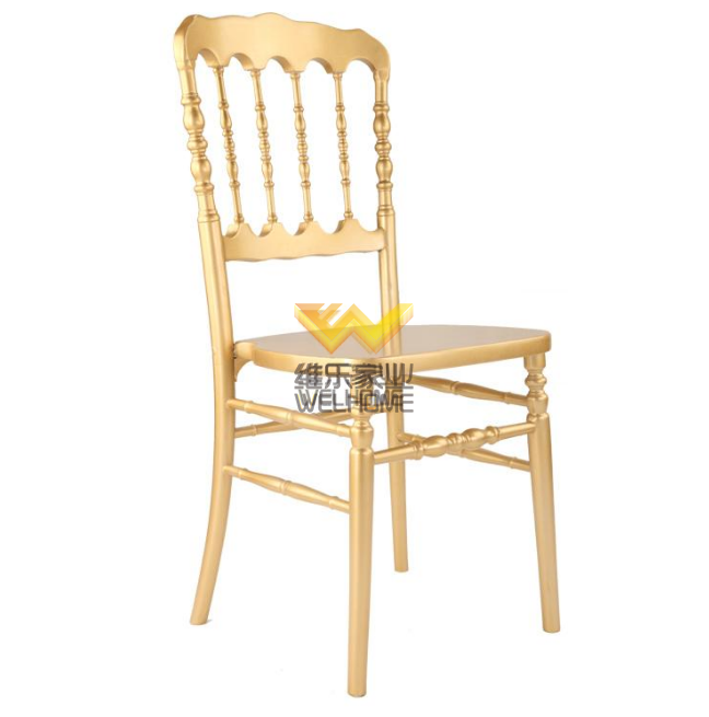 Hotel furniture gold wood napoleon Hotel Chairs for wedding reception