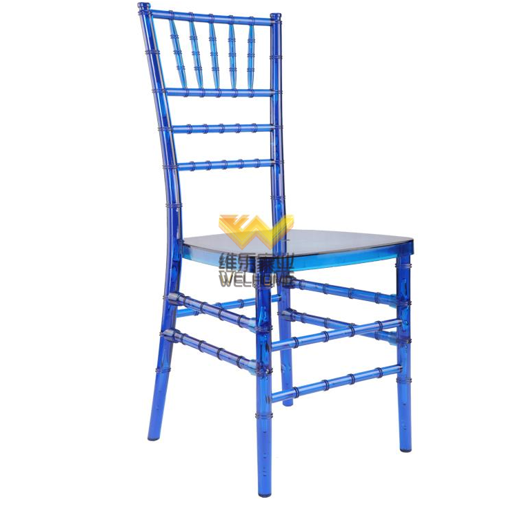 Blue Acrylic affordable antique chiavari chair for wedding/events