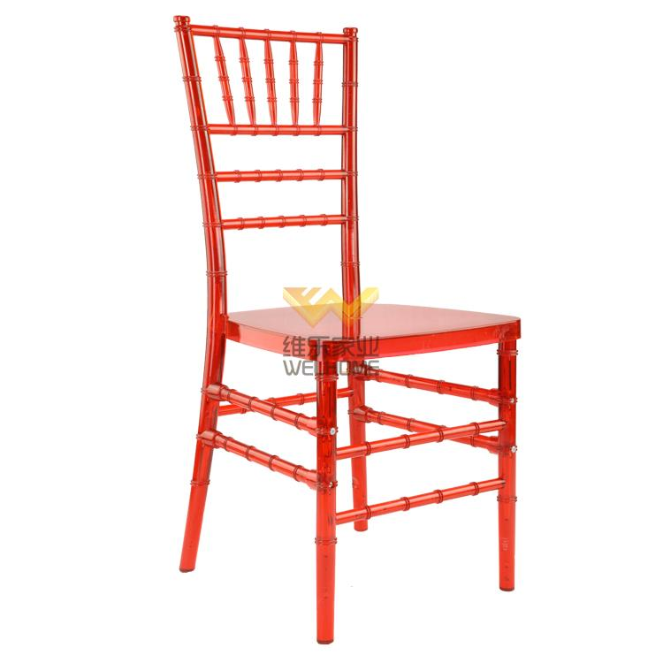 Red acrylic Chiavari chair for wedding/events
