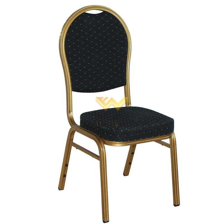 Metal banquet chair with fabric seat  for event