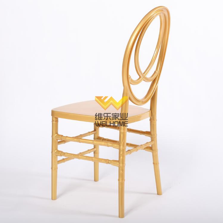 Solid beech wood gold phoenix chair for wedding chair rentals
