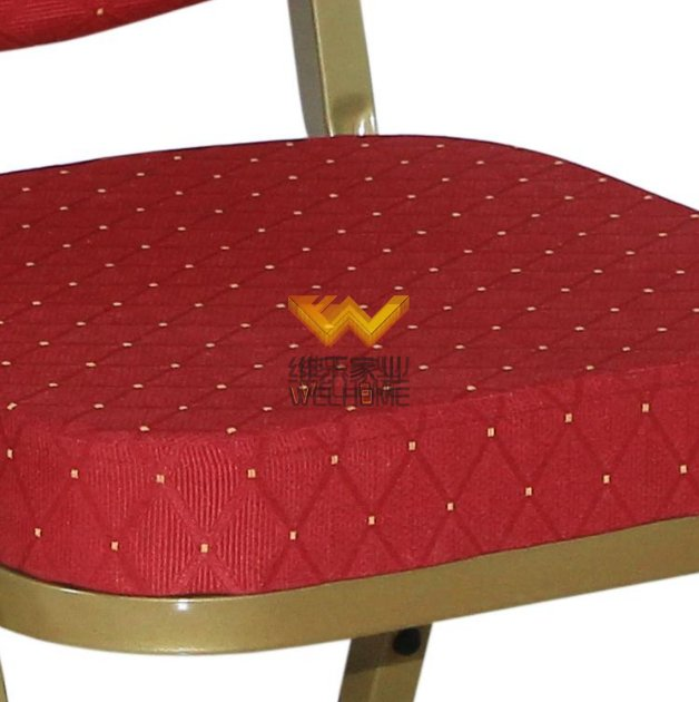 Red seat metal banquet chair for meetings/events