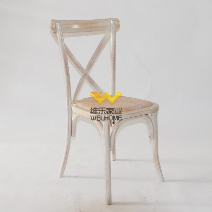 Top quality solid wood cross back chair for wedding and event
