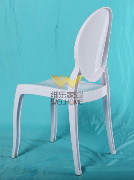 White Resin Ghost Chair W/O armrest