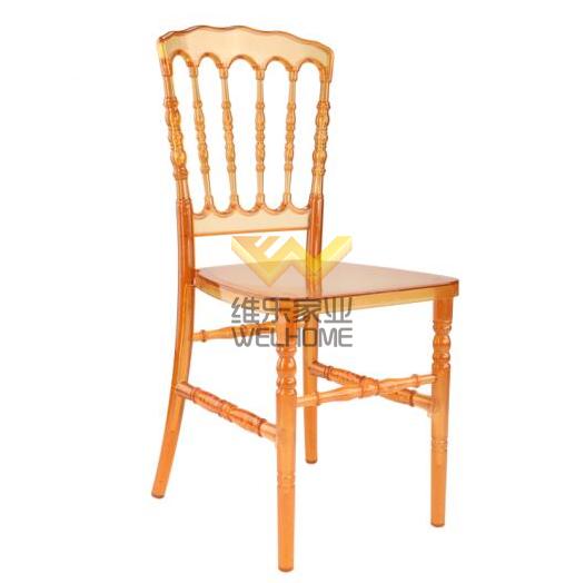 Orange resin plastic napoleon  chair for wedding/event
