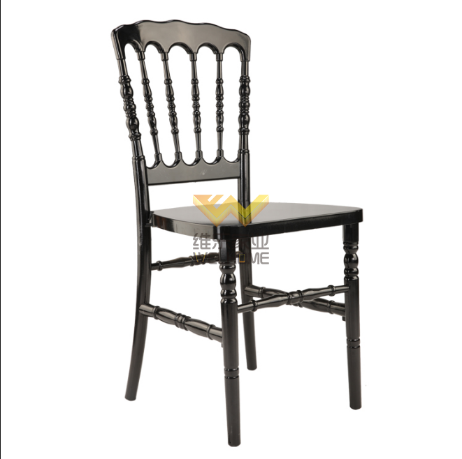 Black resin napoleon chair for wedding/event