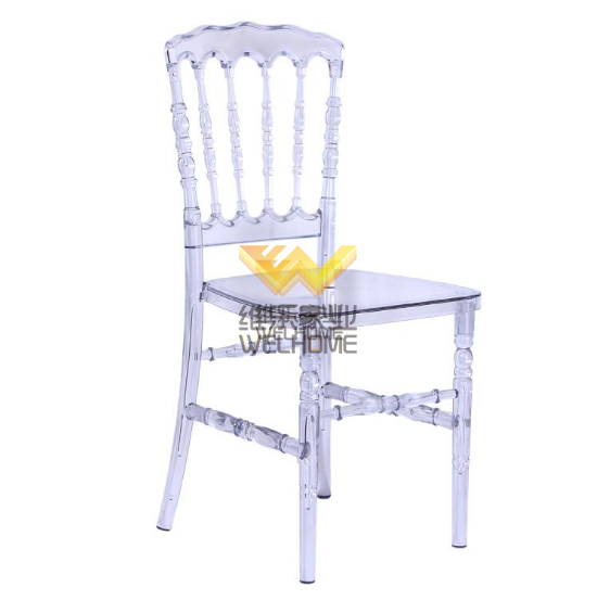 Transparent acrylic Napoleon chair for wedding/event