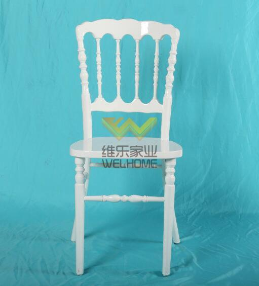 White wooden Napoleon Chair for wedding/event