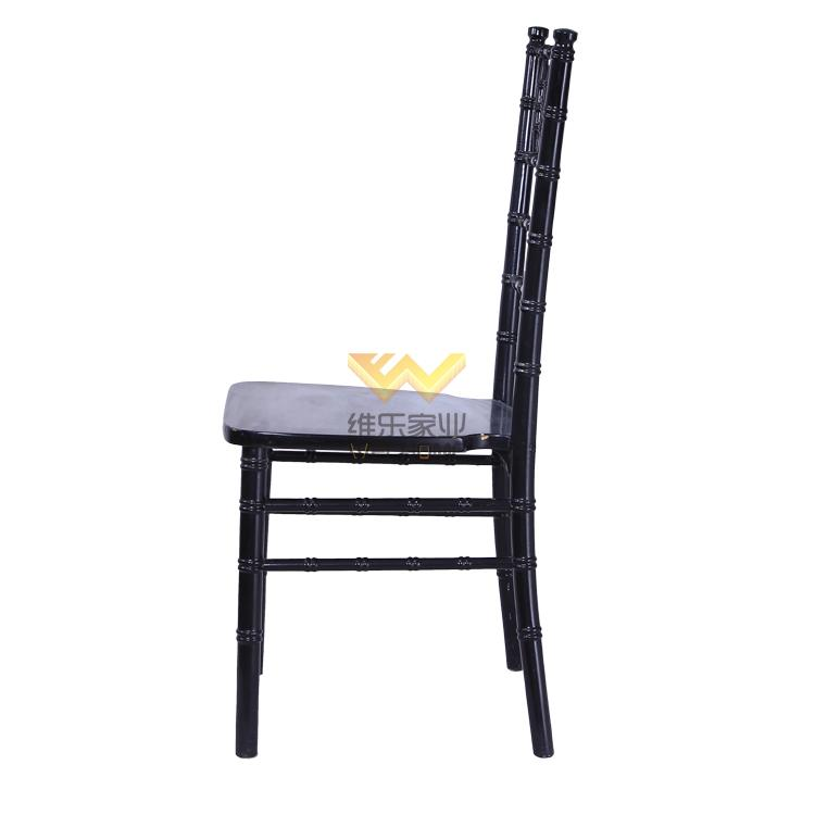 Black wooden chiavari chair for wedding/event